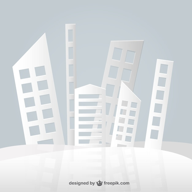 Abstract paper buildings design Vector | Free Download