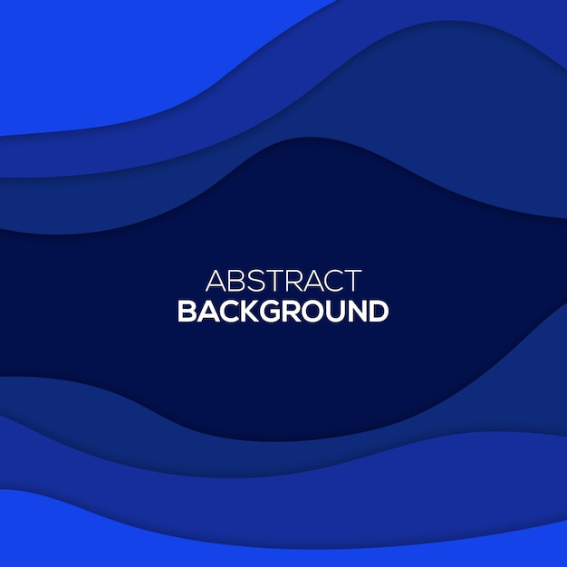 Abstract paper cut background Premium Vector
