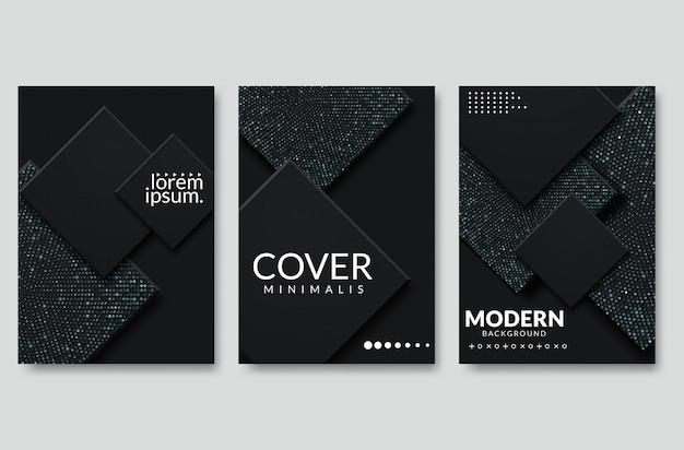 Abstract paper cut cover design. vector creative illustration Premium Vector
