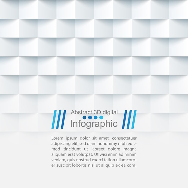Abstract paper template - origami style Premium Vector