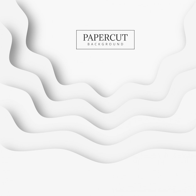 Abstract papercut shape background Free Vector