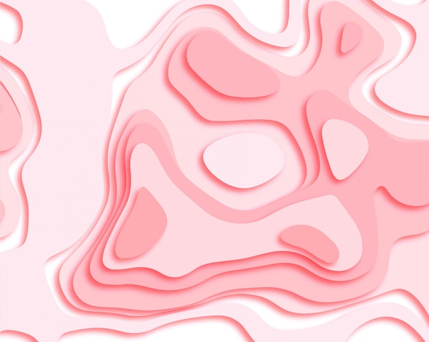 Abstract papercut smooth pink background vector Free Vector