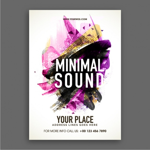 Abstract party brochure Premium Vector