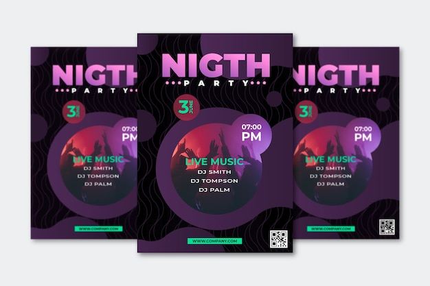 Abstract party poster concept Free Vector