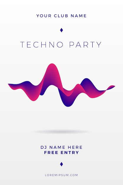Abstract party poster Free Vector