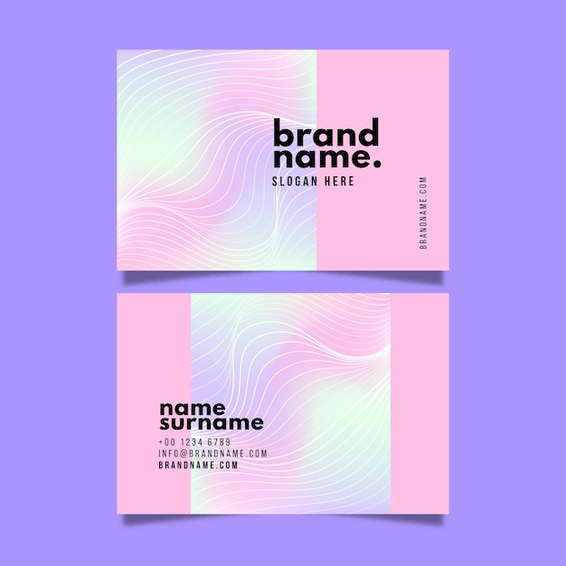 Abstract pastel coloured design business cards Free Vector