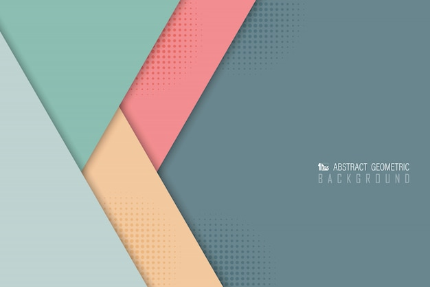 Abstract pastel overlap background of various color design. Premium Vector