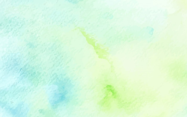 Abstract pastel watercolor green blue texture background Premium Vector
