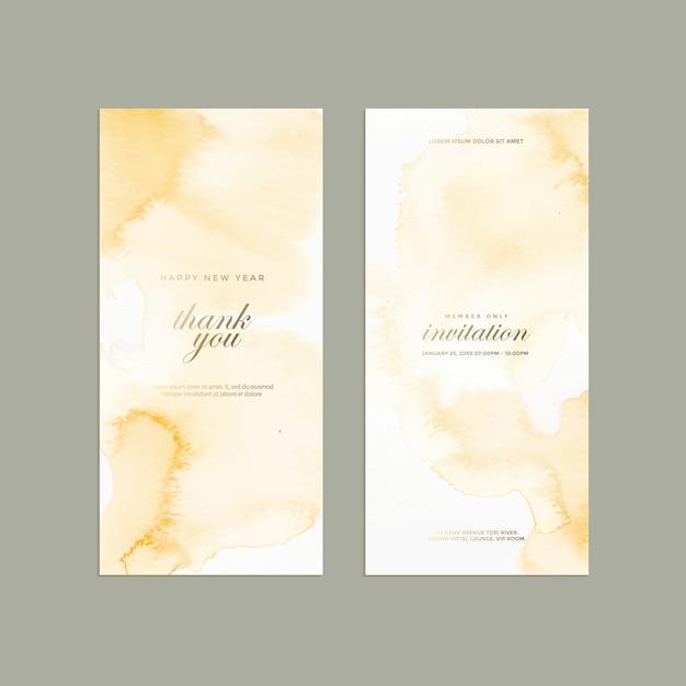 Абстрактное пастельное акварельное свадебное приглашение. Premium векторы