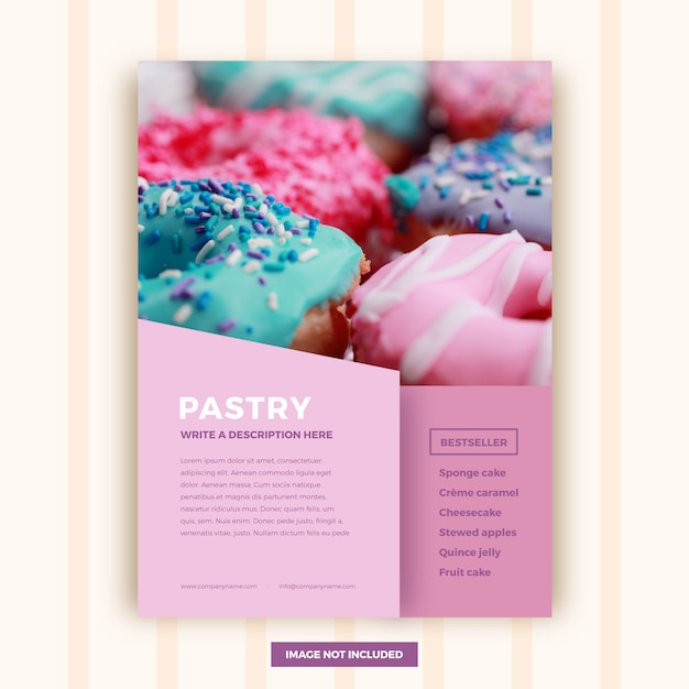 Abstract pastry brochure template Free Vector