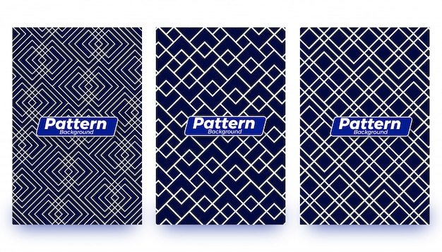 Abstract patter background templates set Premium Vector
