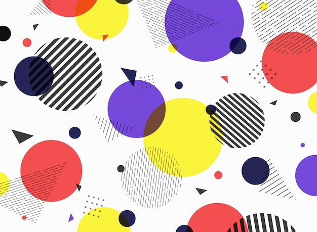 Abstract pattern geometric simple colorful shape design. Premium Vector