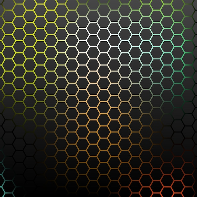 Abstract pattern with colorful hexagons. Premium Vector