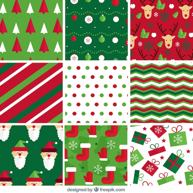 Abstract Patterns And Christmas Items Vector Free Download Interesting Christmas Patterns