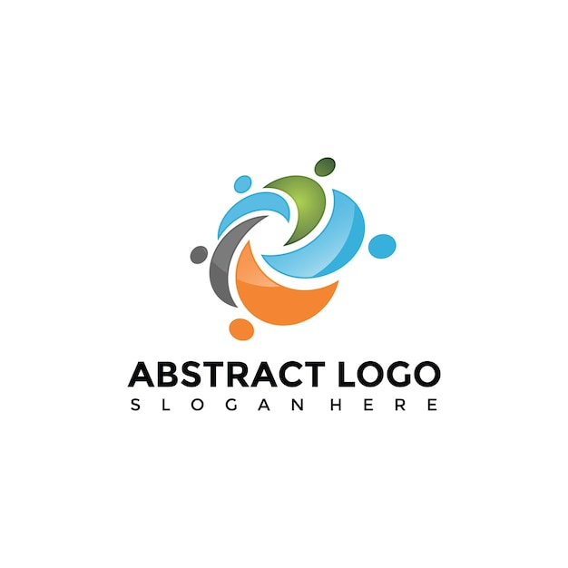 abstract people logo template vector premium download