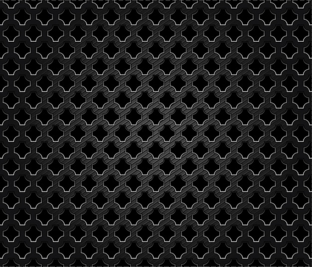 Abstract perforated metal dark background Premium Vector