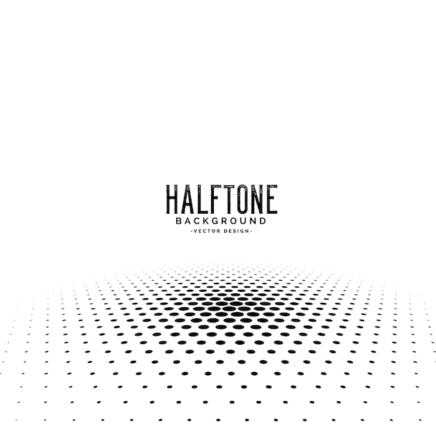 Abstract perspective halftone background design Free Vector