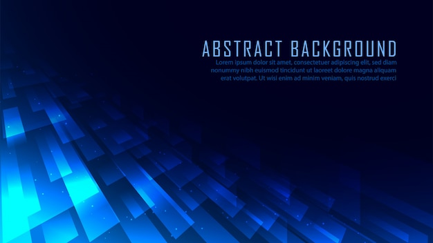 Abstract perspective technology background Premium Vector
