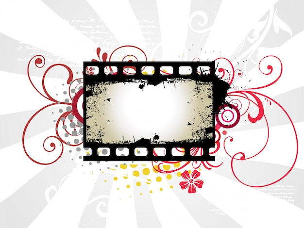 Abstract photo reel frame design Free Vector