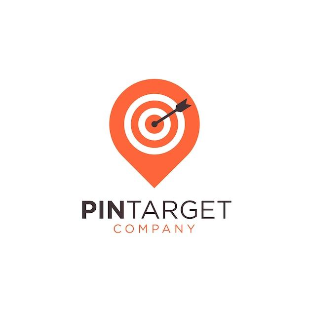 Abstract pin sign symbol logo Premium Vector