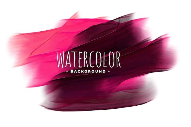 抽象的なピンクと黒の水彩テクスチャ背景 無料ベクター