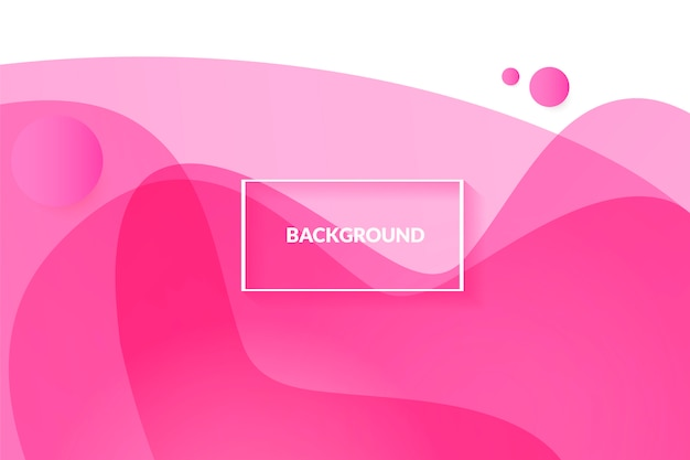 Abstract pink background with beautiful liquid fluid Free Vector
