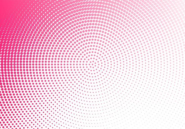 Абстрактная розовая круглая пунктирная технология Бесплатные векторы