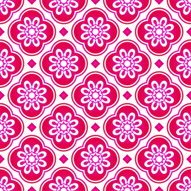 Abstract pink flower malaysia pattern, beautiful texture seamless background Premium Vector