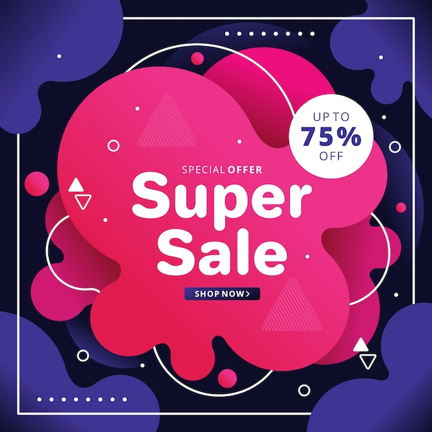 Abstract pink sales background Free Vector
