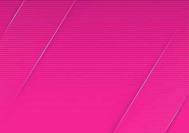 Abstract pink striped background with diagonal 3d stripes Premium Vector