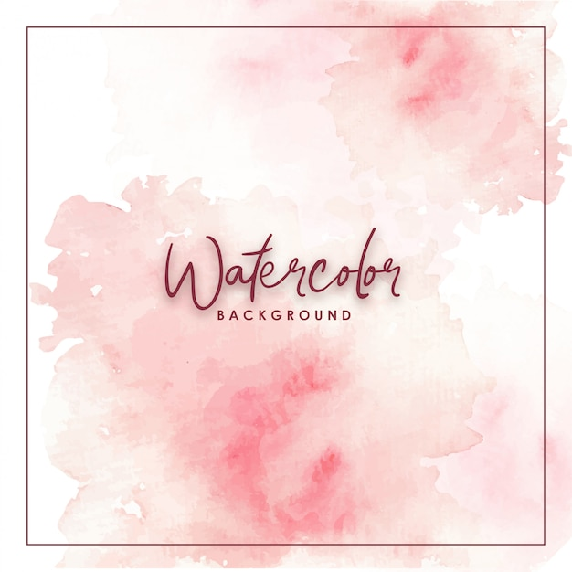 Abstract pink watercolor background Premium Vector