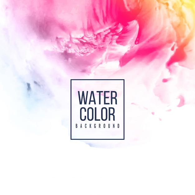 Abstract pink watercolor colorful background Free Vector