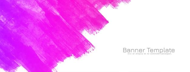 Абстрактный розовый акварель дизайн баннера Бесплатные векторы