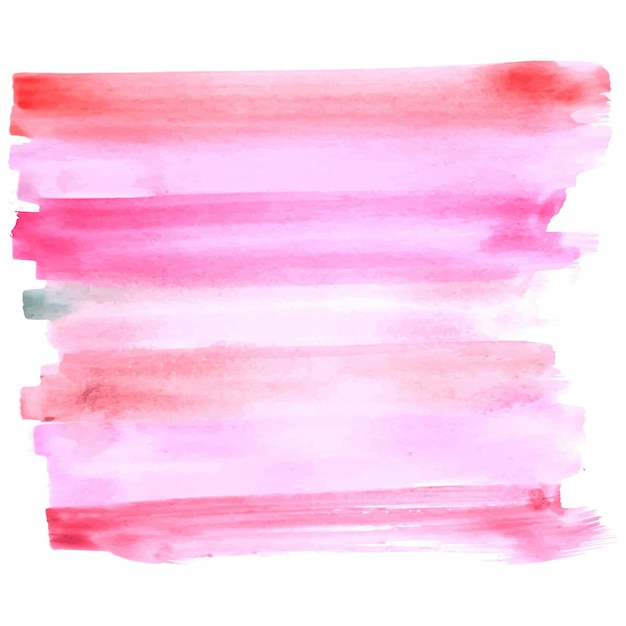 Abstract pink watercolor stroke background Free Vector