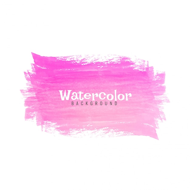 Abstract pink watercolor stroke design background Premium Vector