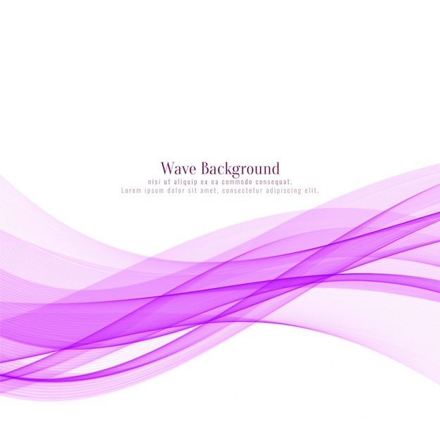 Abstract pink wave stylish background Free Vector
