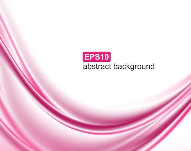 抽象的なピンクの波の背景 Premiumベクター