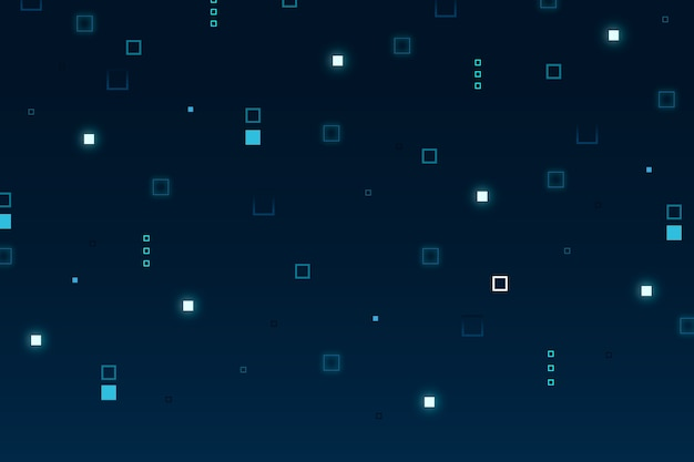 Abstract pixel rain background Free Vector