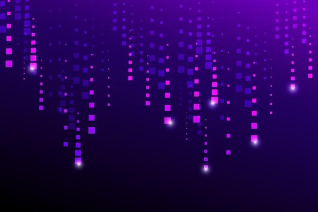Abstract pixel rain purple background Free Vector