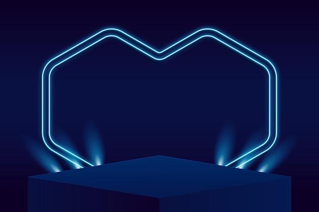 Абстрактный подиум с огнями Бесплатные векторы