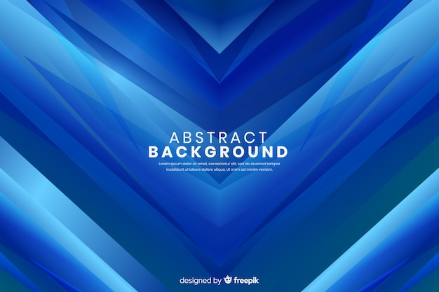 Abstract pointy arrows blue background Free Vector