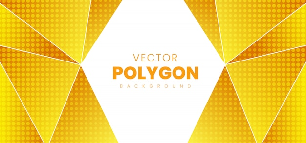 Abstract polygon background Premium Vector