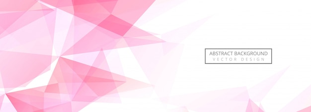 Abstract polygon banner background Free Vector