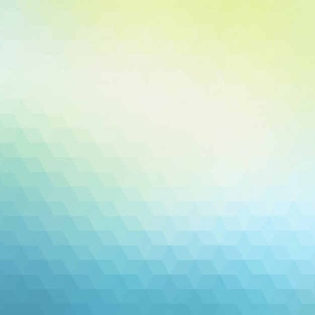 Abstract polygonal background in blue and green\ tones
