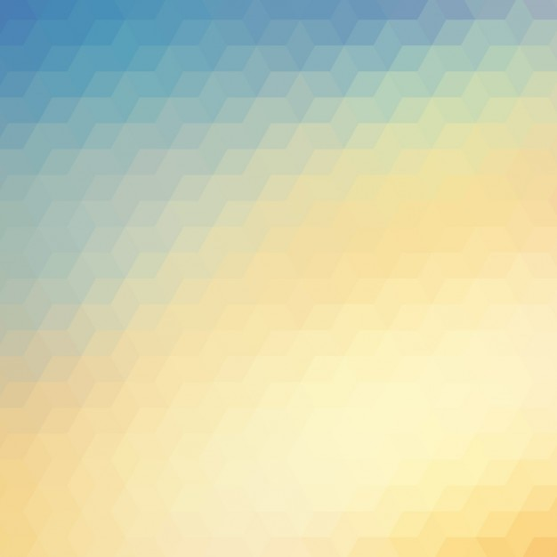Abstract polygonal background in blue and\ yellow tones