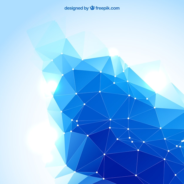 abstract polygonal background in blue color vector free download