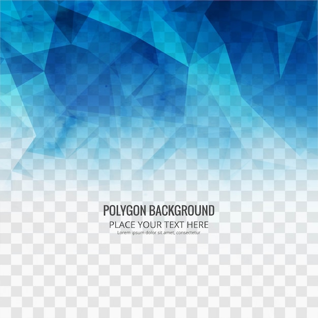 Abstract polygonal background template Vector | Free Download