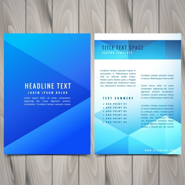 Abstract polygonal brochure flyer design template Vector | Free ...