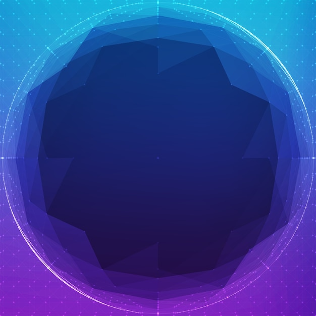 Abstract polygonal cyber sphere Free Vector