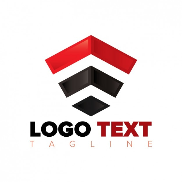 abstract polygonal logo in black and red vector free download rh freepik com black and red symbol green black and red logo